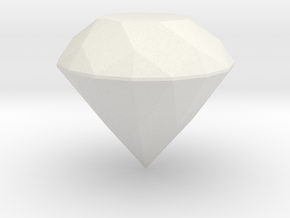 Diamond in White Natural Versatile Plastic