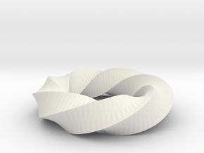Twist01 in White Natural Versatile Plastic