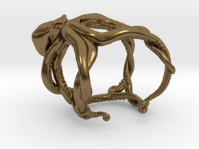 Octopus Ring in Natural Bronze