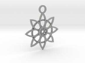 Flower Pendant in Metallic Plastic