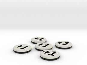Plus/Minus Tokens (Batch of 5) in Full Color Sandstone