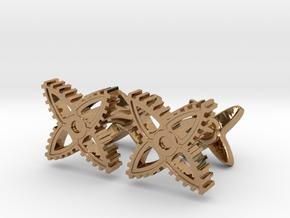 X-Gear Cufflinks in Polished Brass