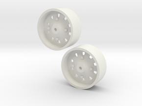 1:64 IH 86 & 88 series rear wheel pair in White Natural Versatile Plastic