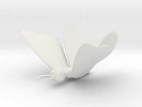 BUTTERFLY3 in White Natural Versatile Plastic