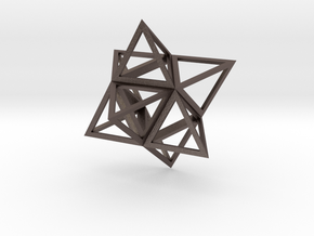 Merkaba Flatbase 4cm in Polished Bronzed Silver Steel