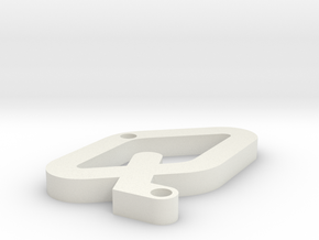 Q OCR A EXTENDED in White Natural Versatile Plastic