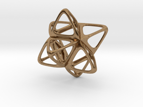 Merkaba Flatbase R2 - 4cm in Natural Brass