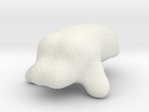 hippipotamus in White Natural Versatile Plastic
