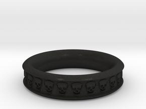 Skull Ring Size 10  in Black Acrylic
