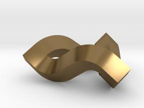 Impossible Triangle, Mini in Polished Bronze