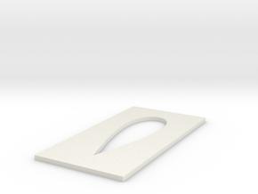 Omnimac Pitot Tube Mount V1.2 (cutout Template) in White Natural Versatile Plastic