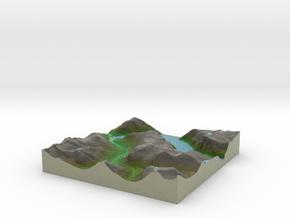 Terrafab generated model Thu Oct 10 2013 11:42:12  in Full Color Sandstone
