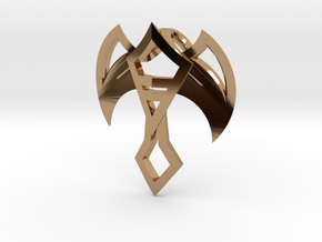 Winged Jewel in Polished Brass