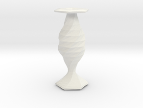 twisted fish flower  vase in White Strong & Flexible