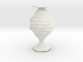 twisted babel fish flower  vase in White Natural Versatile Plastic