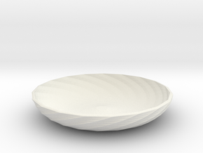twisted red cap dish in White Natural Versatile Plastic