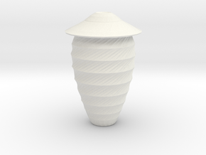 twisted shield vase in White Natural Versatile Plastic