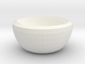 venus bowl in White Natural Versatile Plastic