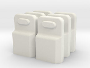 XT60 connector safety cap (6 pieces) in White Natural Versatile Plastic