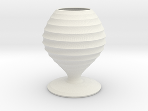karloff vase  in White Natural Versatile Plastic