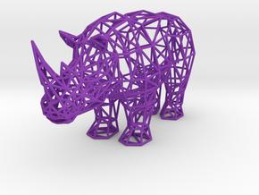 Digital Safari- Rhino (Small) in Purple Strong & Flexible Polished