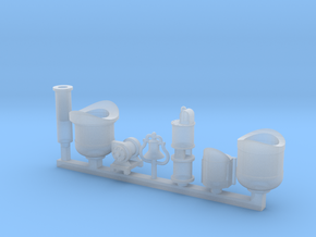Detail parts for 2-6-0 loco conversion [set A] in Smooth Fine Detail Plastic