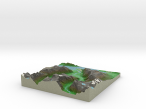 Terrafab generated model Thu Oct 17 2013 10:15:55  in Full Color Sandstone