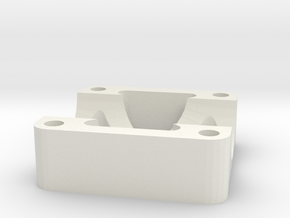 16mm Hd Tube Clamp in White Natural Versatile Plastic