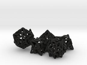 Pinwheel Dice Ornament Set in Black Natural Versatile Plastic