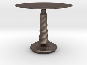 red cap table 2 in Polished Bronzed Silver Steel