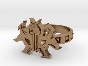 Magic: The Gathering  Rakdos Ring(US Size7) in Natural Brass