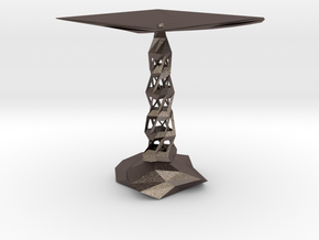 red cap table 4 in Polished Bronzed Silver Steel