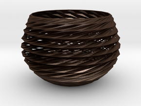 basket in Matte Bronze Steel