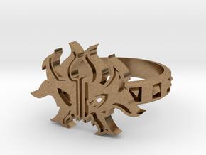 Magic: The Gathering  Rakdos Ring(US Size12) in Natural Brass