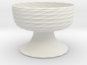 Planter 5 in White Natural Versatile Plastic
