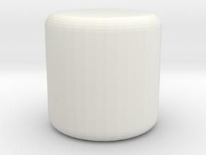 footstool in White Natural Versatile Plastic