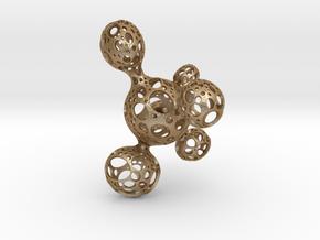 Pendant_poko_poko in Matte Gold Steel