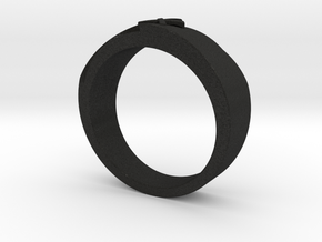 Wedding Ring R02 in Black Acrylic