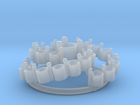 Diamond Flower Pendant in Smooth Fine Detail Plastic