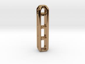 Tritium Lantern 4B (Silver/Brass/Plastic) in Polished Brass