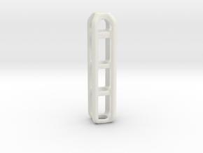 Tritium Lantern 4B (Silver/Brass/Plastic) in White Natural Versatile Plastic