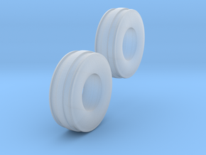 1/64 11L-15 3 Rib Tractor Tires in Smooth Fine Detail Plastic