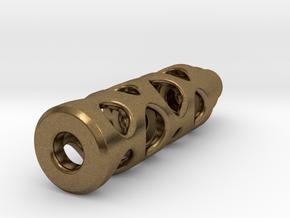 Tritium Lantern 1B (Silver/Brass/Plastic) in Natural Bronze