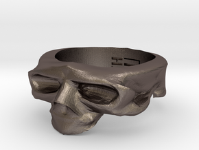 Splitted Skull Ring in Stainless Steel