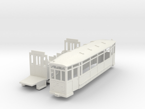 Beiwagen Thueringer Waldbahn in White Natural Versatile Plastic