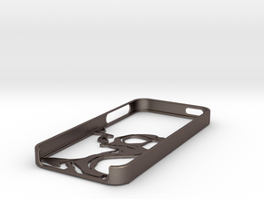 Fear iPhone 5 case in Polished Bronzed Silver Steel