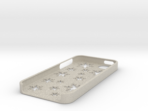 Snowflake iPhone 5 case in Natural Sandstone