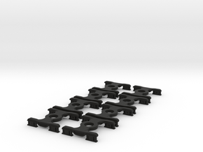8 * FEA-B/E/F/S Bogies N Gauge 1:148 in Black Natural Versatile Plastic