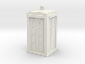 Tardis in White Natural Versatile Plastic