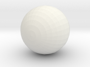 Red Ball with White :-) in White Natural Versatile Plastic